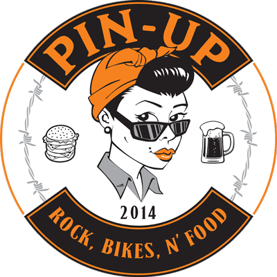 Logo Pin Up - Rock, Bikes N'Food