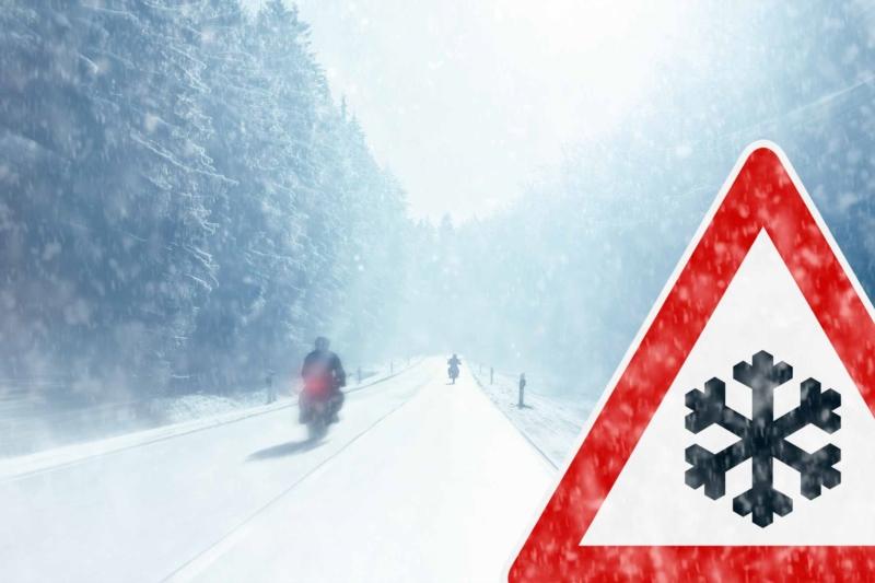 Conduite moto hiver