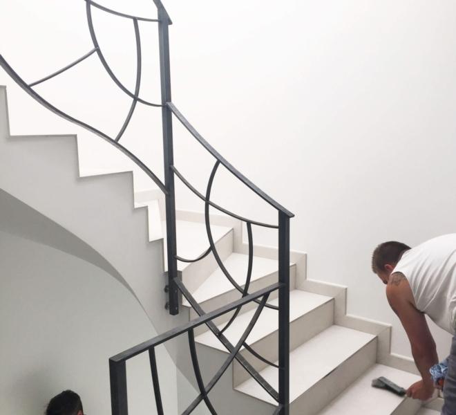 Inside each staircase model