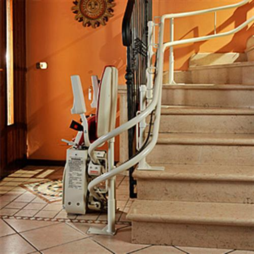Monte-escalier à doubles rails