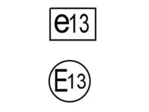 Homologation automobile E13 et e13