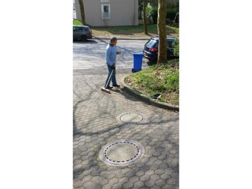 Nettoyage des alentours des résidences