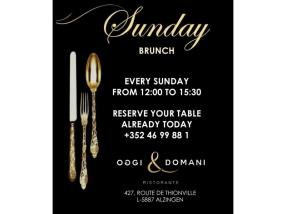 Sunday Brunch à 34€