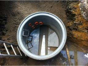 Installation de canalisation souterraine