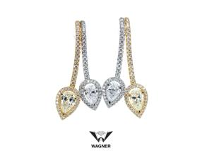 Boucles diamants jaune et blancs