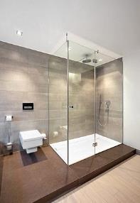 Douche en verre trempé sur mesure