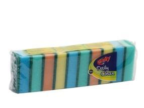 Pack de 10 éponges à récurer divers coloris