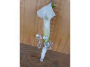 Hochzeit - Anstecker für Bräutigam, mit Calla