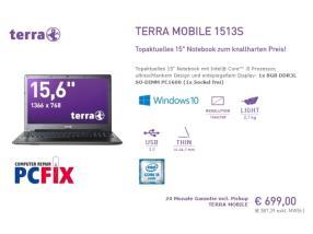 Portable Terra 1513S avec SSD