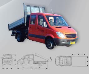 [CAT.11] Camionnette benne basculante double cabine 6 pl.