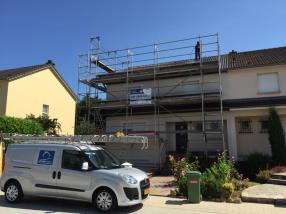 Travaux sur façade (chantier de Strassen) - suite