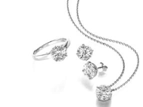 Parrure Or Blanc, Diamants navettes et princesses