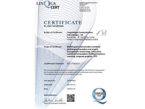 Certification ISO17100