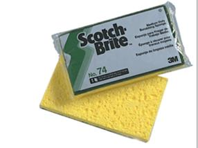 Éponge à récurer Scotch Brite 74 15x10 cm jaune/verte