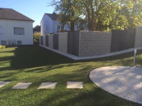 Murs/  clôture gabions et acier corten