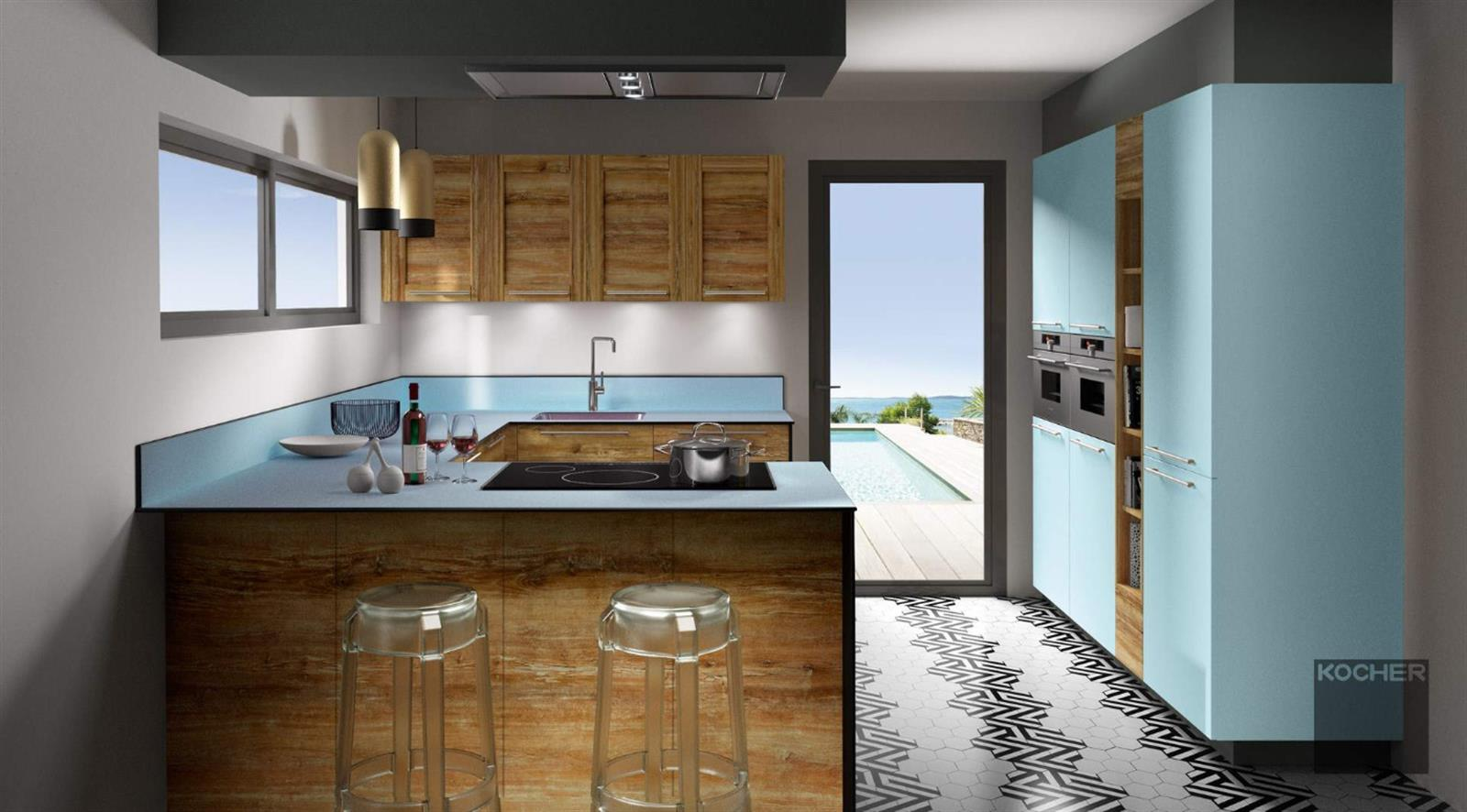 kitch n cuisine quip e electrom nager encastrable editus. Black Bedroom Furniture Sets. Home Design Ideas