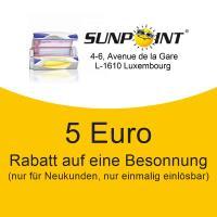 5 Euro Besonnungs-Rabatt für Neukunden